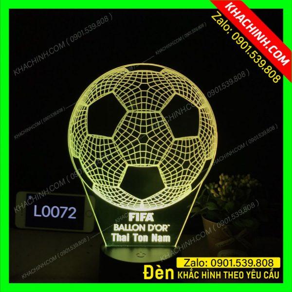 Đèn Ngủ Khắc Ảnh quả bóng ( trái banh ) fifa ballon d'or mẫu L0072