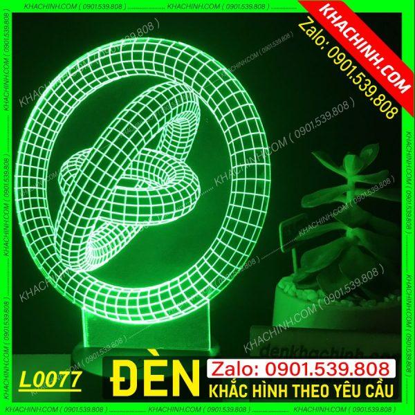 Đèn Ngủ vòng xoay vô cực, khắc hình theo yêu cầu khachinh.com Tháng Sáu 2021