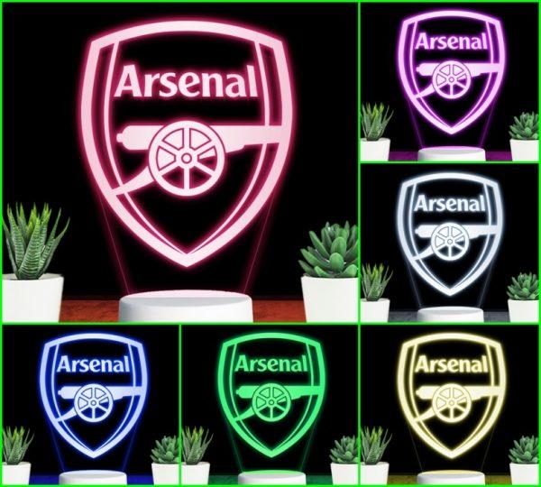 Đèn khắc hình CLB bóng đá Arsernal
