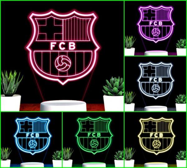 Đèn khắc hình CLB bóng đá Barca
