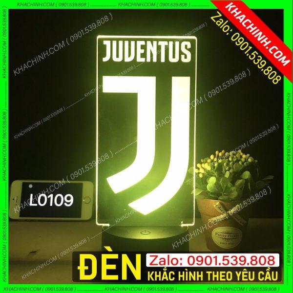Đèn khắc hình CLB bóng đá JUVENTUS