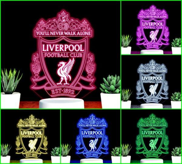 Đèn khắc hình CLB bóng đá Liverpool