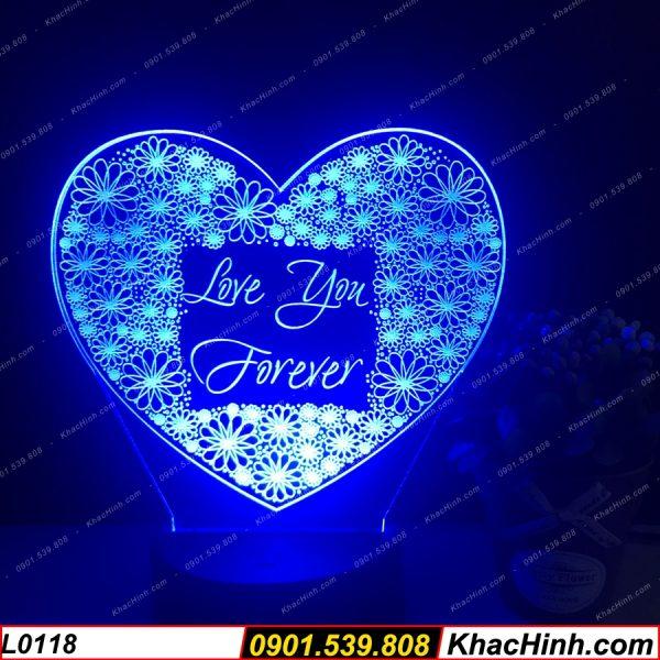 Khắc Ảnh Lên Đèn Ngủ ( Đèn Ngủ khắc Theo Yêu Cầu ), trái tim love you forever, quà tặng sinh nhật, quà cưới khachinh.com