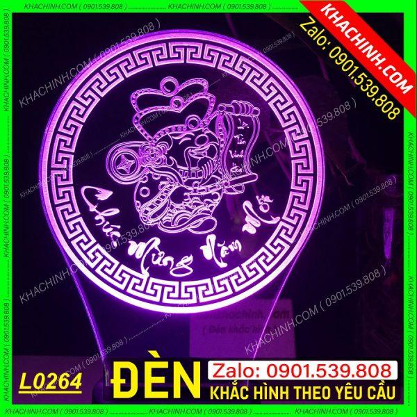 Đèn khắc tượng thần tài, chúc mừng năm mới, vạn sự như ý, tấn tài tấn lộc, khắc hình theo yêu cầu khachinh.com Tháng Sáu 2021