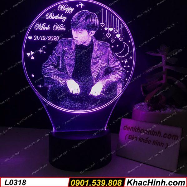 Đèn Khắc Chân Dung ( Quà Tặng Đèn Ngủ Khắc Tên Theo Yêu Cầu ) khachinh.com