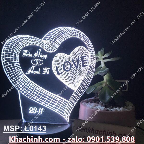 Đèn Khắc Hình trái tim 3D ( Đèn Ngủ Tình Yêu ) khachinh.com