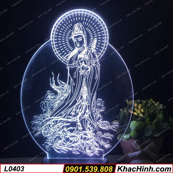 Đèn bàn thờ phật, tranh thờ mẹ quan âm khachinh.com
