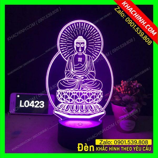 Đèn khắc hình thờ Phật khachinh.com Tháng Sáu 2021