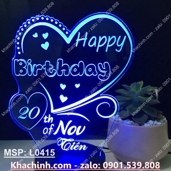 Quà Tặng Sinh Nhật đèn led khắc chữ Happy birthday khachinh.com