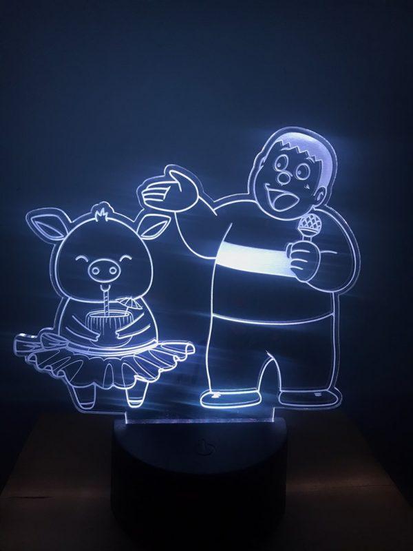 Đèn led khắc hình Chaien và Heo dễ thương khachinh.com