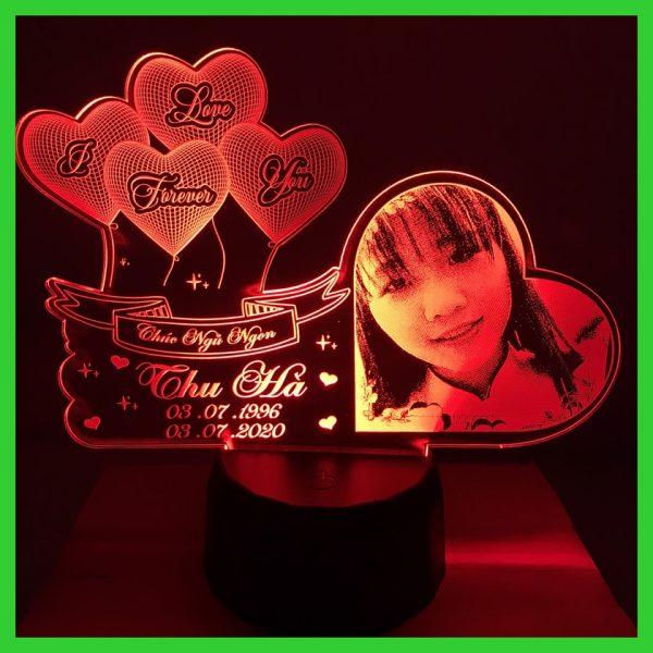 Đèn ngủ khắc hình theo yêu cầu. Đèn khắc ảnh chân dung khachinh.com