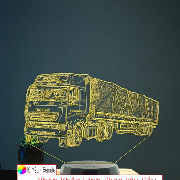 Đèn hình xe Tải , khắc hình theo yêu cầu khachinh.com