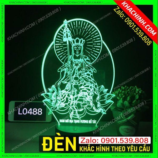 Đèn khắc tượng Phật Địa Tạng Vương bồ tát khachinh.com Tháng Sáu 2021