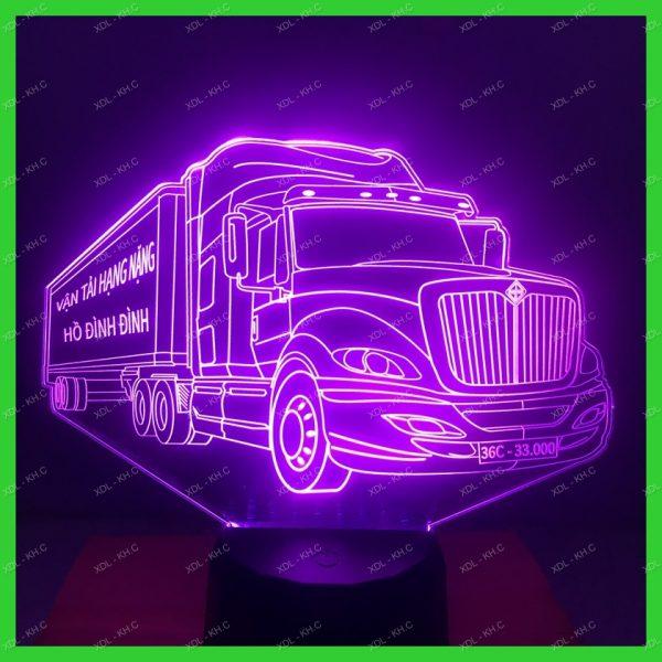 Đèn trang trí hình xe Container, khắc hình đèn led theo yêu cầu khachinh.com