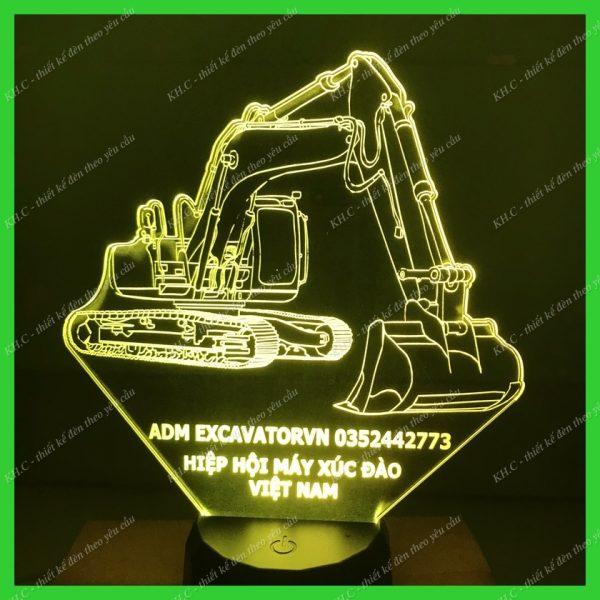 Đèn khắc hình máy xúc Kobelco khachinh.com