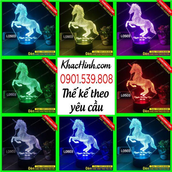 Đèn ngủ led khắc hình ngựa 1 sừng khachinh.com Tháng Sáu 2021