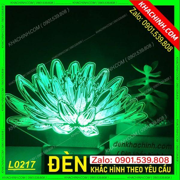 Đèn hình bông sen khắc theo yêu cầu khachinh.com Tháng Sáu 2021