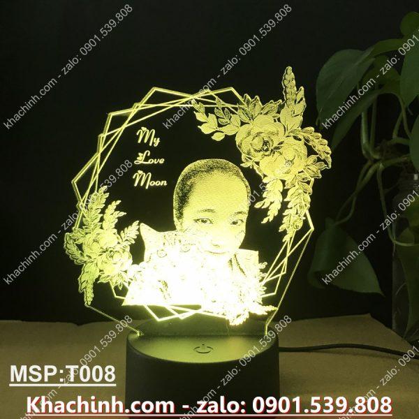 Đèn khắc hình theo yêu cầu, đèn khắc ảnh, quà tặng sinh nhật, quà cưới khachinh.com