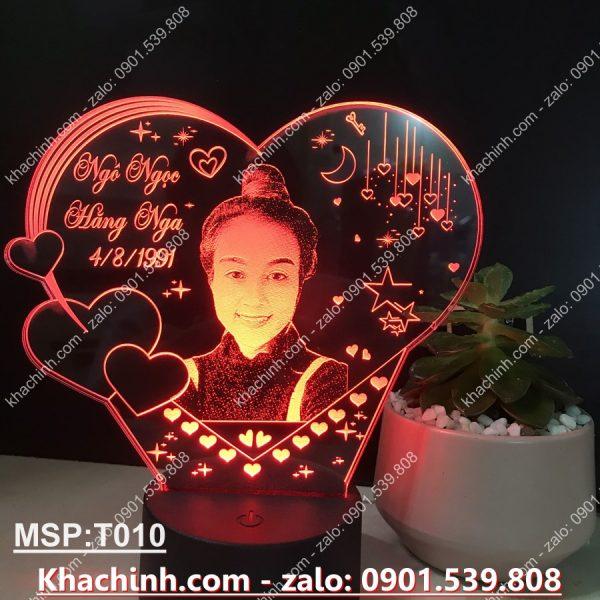 Đèn khắc hình theo yêu cầu, đèn khắc chân dung, quà tặng sinh nhật, quà cưới khachinh.com