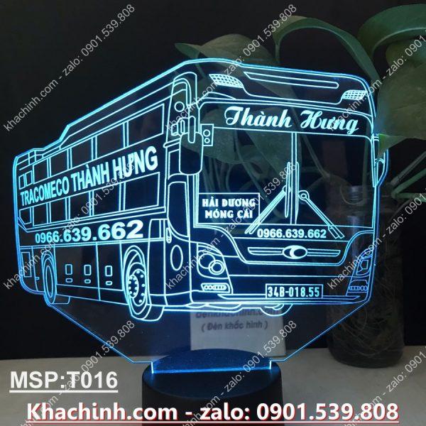 Đèn khắc mô hình xe giường nằm theo yêu cầu, đèn để cabin ô tô khachinh.com