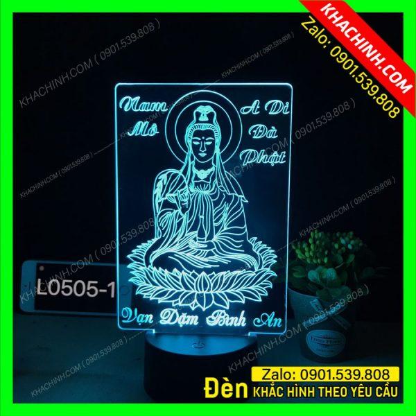 Đèn thờ tượng mẹ quan âm vạn dặm bình an, thiết kế và khắc theo yêu cầu khachinh.com Tháng Sáu 2021