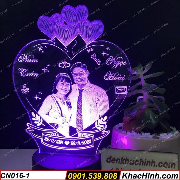 Đèn khắc ảnh theo yêu cầu, đèn khắc hình theo yêu cầu, đèn led trang trí để bàn, làm quà tặng khachinh.com