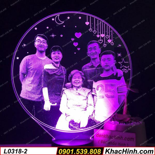 Đèn ngủ khắc ảnh theo yêu cầu, quà tặng độc đáo khachinh.com