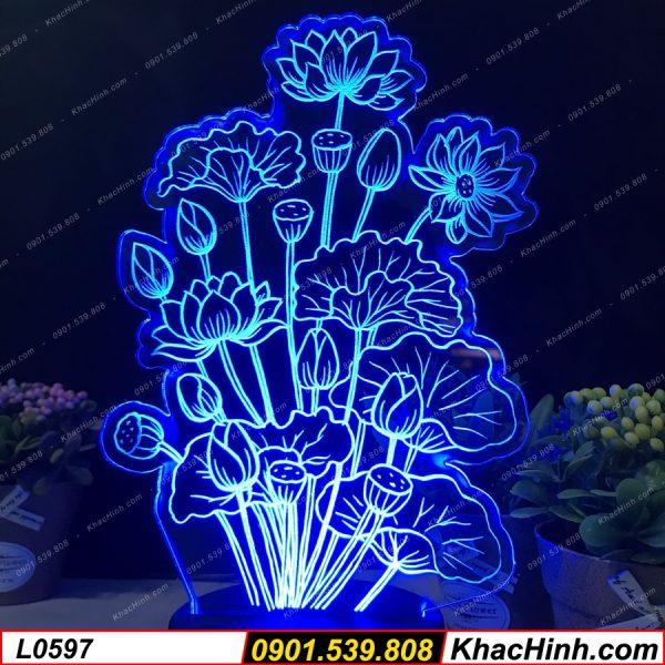 Đèn trang trí hình hoa sen bông sen, đèn thờ hình bông sen khachinh.com