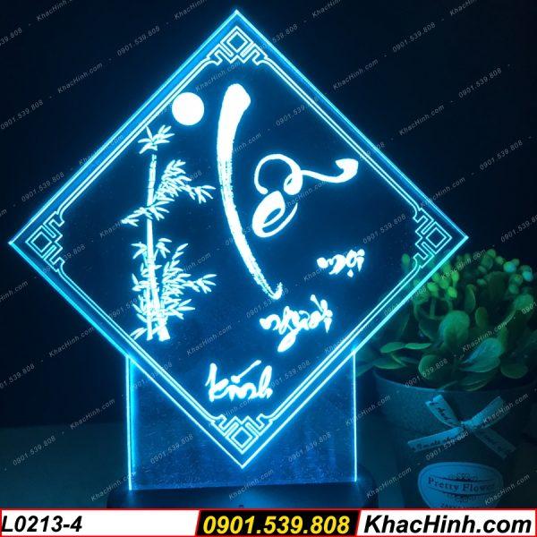 Đèn tranh thư pháp chữ Lễ, đèn thư pháp khắc hình theo yêu cầu, quà tặng độc đáo, đèn để bàn - đèn trang trí khachinh.com