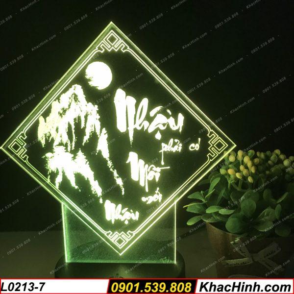 Đèn tranh thư pháp chữ Nhậu (Có Mồi Mới Nhậu), đèn thư pháp khắc hình theo yêu cầu, quà tặng độc đáo, đèn để bàn - đèn trang trí khachinh.com