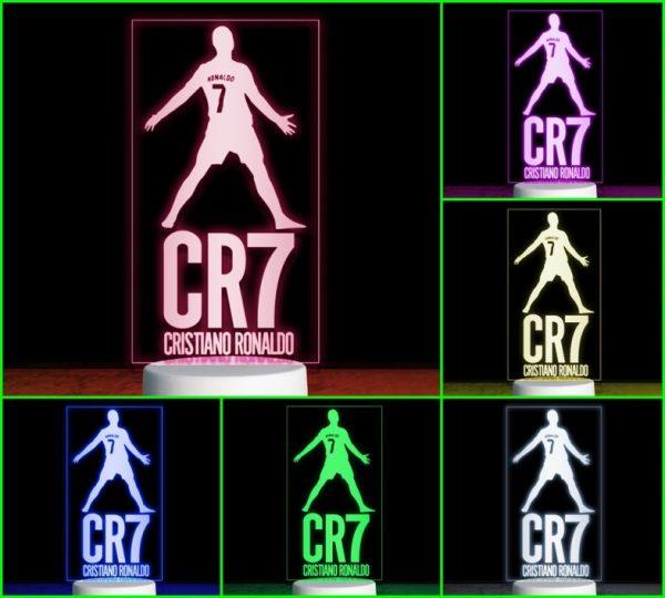 Đèn khắc hình CLB bóng đá CR7