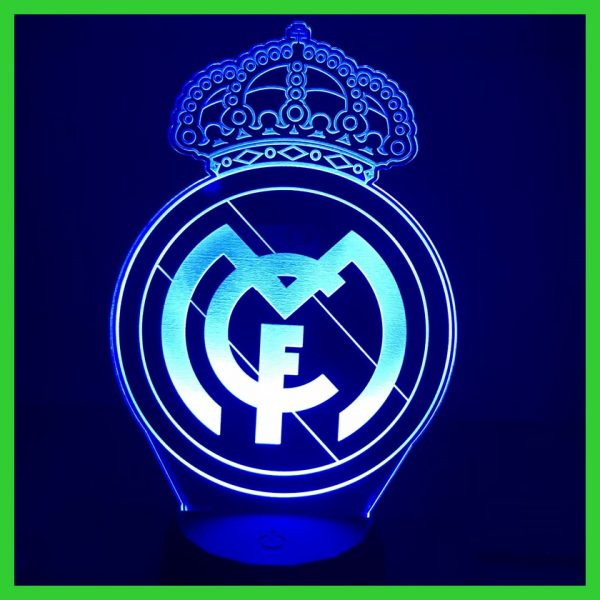 Đèn khắc hình CLB bóng đá Real Madrid