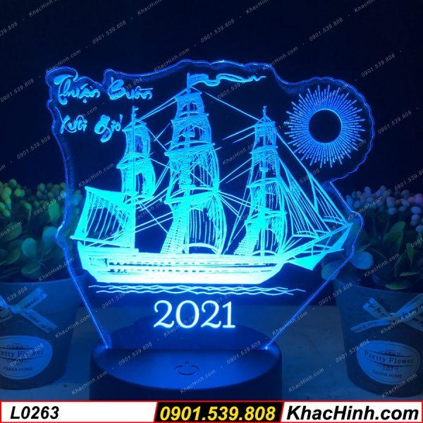 Đèn led khắc hình con thuyền Thuận Buồm Xuôi Gió, Đèn Ngủ Khắc Tên Theo Yêu Cầu ( Đèn Khắc Ảnh ) khachinh.com