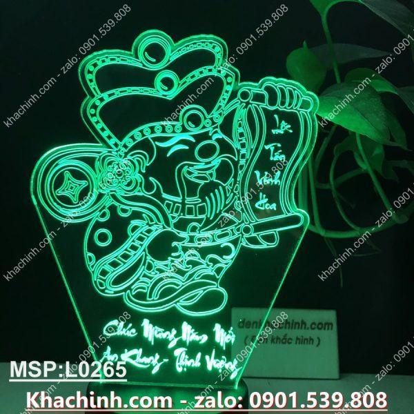 Đèn led khắc tượng thần tài, chúc mừng năm mới, tấn tài tấn lộc khachinh.com