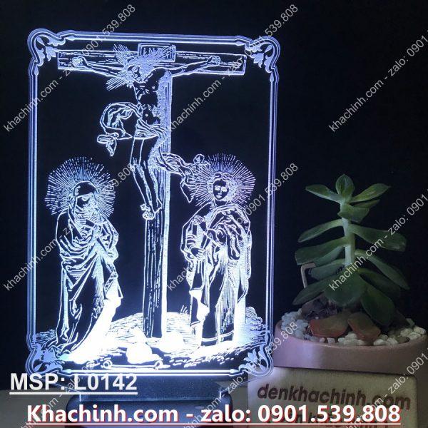Đèn led khắc tượng Thiên Chúa, thiết kế theo yêu cầu ( Đèn Ngủ In Ảnh Nghệ Thuật ) khachinh.com