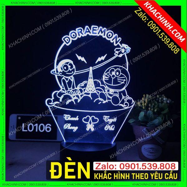 Đèn Ngủ Chân Dung ( Đèn Ngủ Khắc Ảnh ) khachinh.com doremon doraemon
