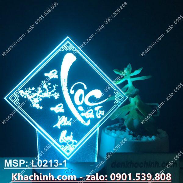 Đèn thư pháp chữ LỘC, thiết kế và khắc hình theo yêu cầu ( Đèn Ngủ Đẹp ) khachinh.com