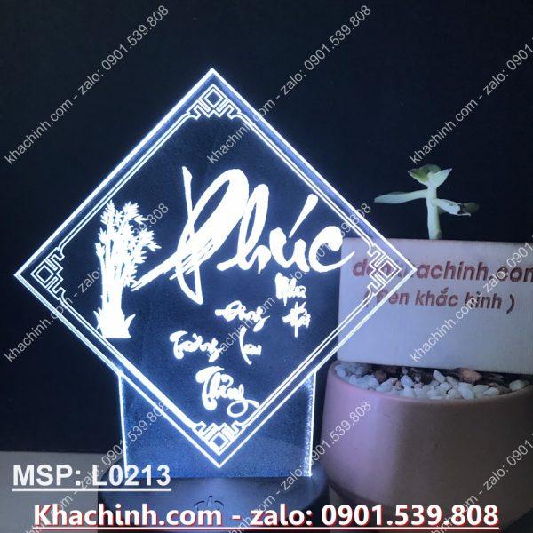 Đèn tranh thư pháp chữ Phúc - khắc đèn theo yêu cầu khachinh.com