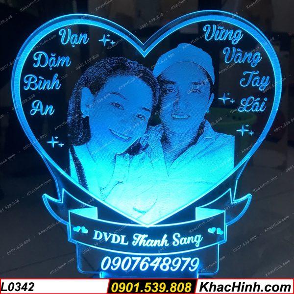 Bỏ Sỉ Đèn Led 3D ( Đèn Ngủ Để Bàn Dễ Thương ), Đèn khắc hình theo yêu cầu, quà tặng độc đáo, quà cưới khachinh.com
