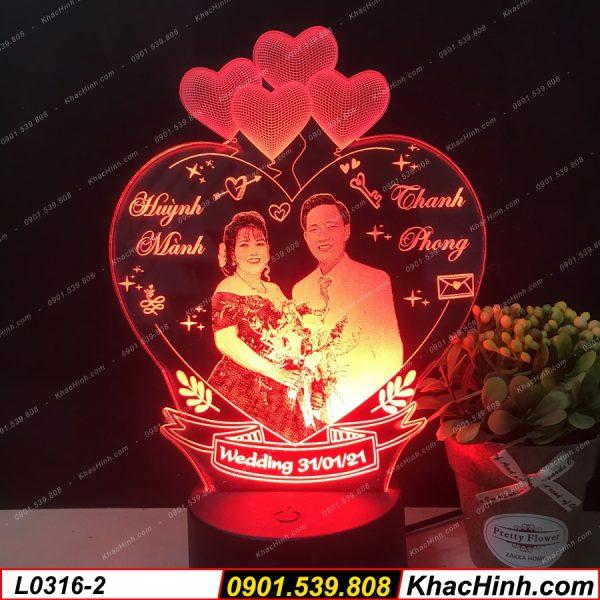 Đèn Ngủ Đẹp, Đèn khắc hình theo yêu cầu, đèn trang trí, quà sinh nhật, quà cưới ( Đèn Led Khắc Hình ) khachinh.com