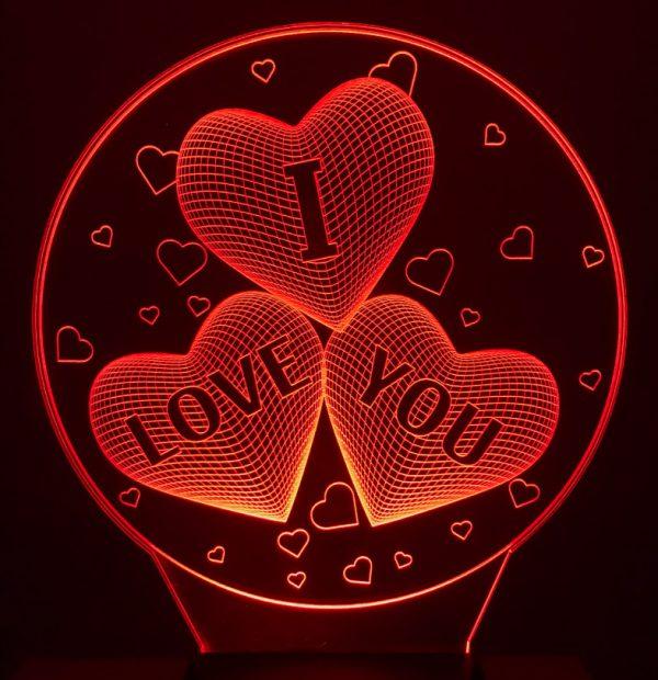 Đèn Ngủ Led Hình I LOVE YOU trái tim khachinh.com