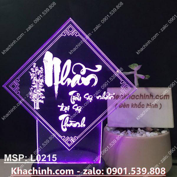 Đèn TRANH THƯ PHÁP CHỮ NHẪN khachinh.com