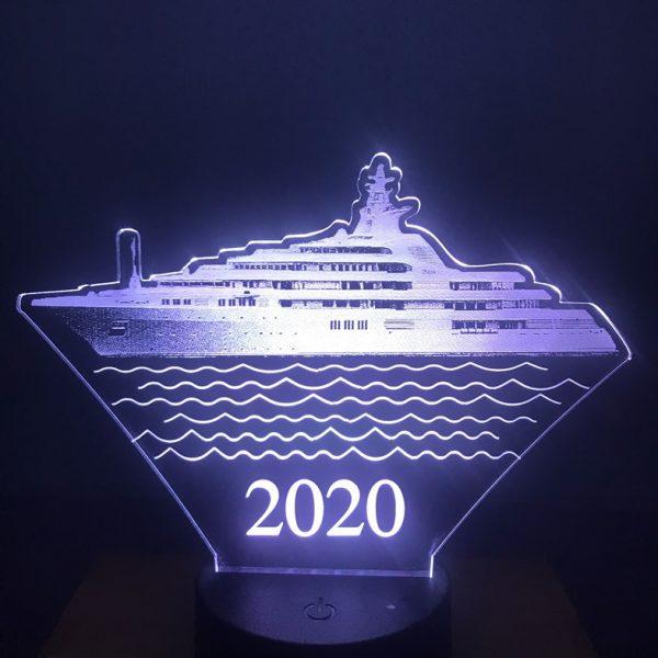 Đèn hình con thuyền - Khắc hình đèn ngủ led theo yêu cầu khachinh.com