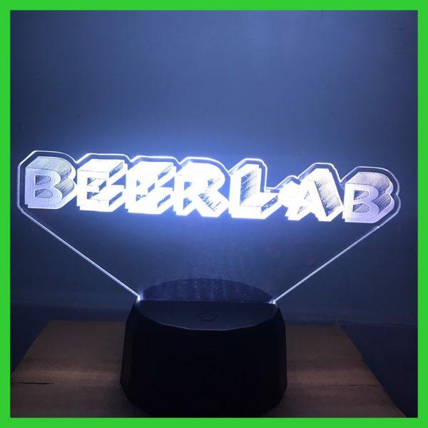 Đèn khắc Logo chữ theo yêu cầu BEERLAB khachinh.com