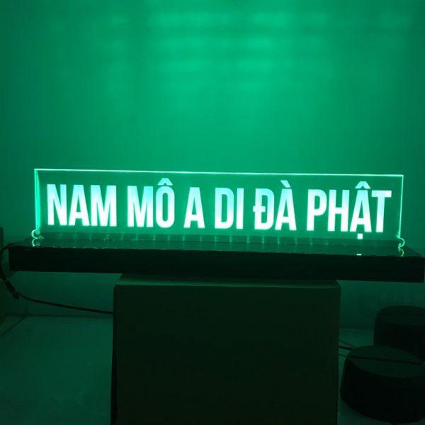 Đèn Led thờ chữ A DI ĐÀ PHẬT khachinh.com