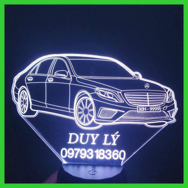 Đèn khắc hình xe Mercedes-Maybach, nhận khắc hình theo yêu cầu khachinh.com