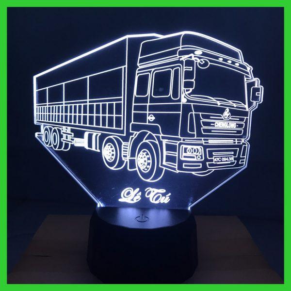 Đèn khắc hình xe tải 4 chân khachinh.com