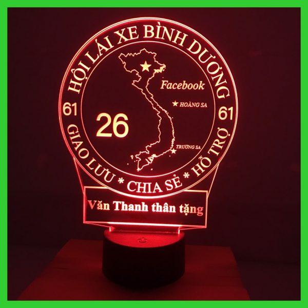 Đèn ngủ, đèn trang trí hình Hội Lái Xe , Bạn Hữu Đường Xa mẫu 2 khachinh.com