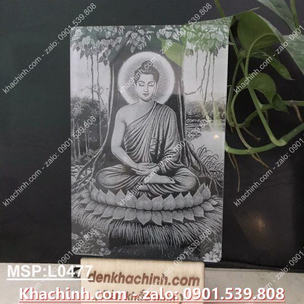 Đèn thờ Phật dưới gốc cây bồ đề, đèn thờ hình phật khachinh.com