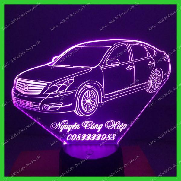 Đèn khắc hình xe Nissan-Teana khachinh.com